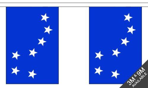10 flag bunting 3 metre long Starry Plough Royal Blue