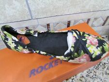 NEW ROCKET DOG MAJESTA BALLET FLATS SHOES WOMENS 8 BLACK/MULTI FREE SHIP