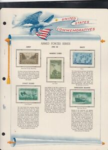 united states commemoratives armed forces series 1945/6 stamps page ref 18248