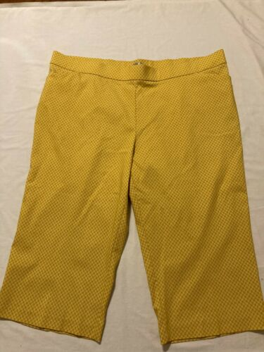 Avernue Capri Pull-on Gaucho Wide Leg Yellow /Whit
