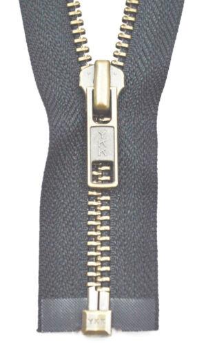 YKK Reißverschluss von 50-100 cm 5 mm metall schwarz blau 1 Weg teilbar