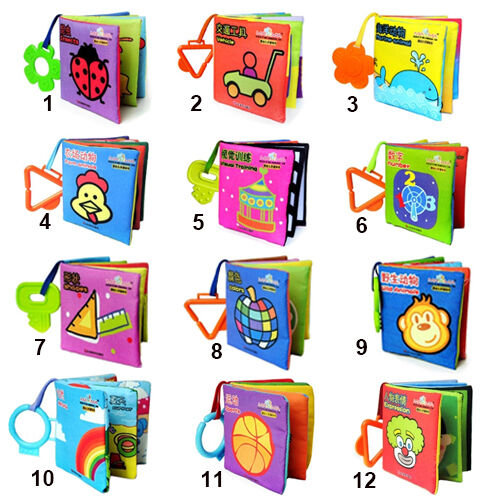 Infant Baby Kid Boy Girl Intelligence Cloth Book Nice Cognize Toy Free Shipping