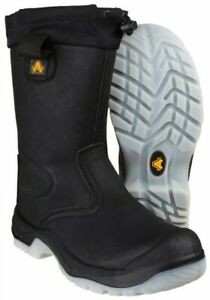 9248e399531 Details about Amblers Safety Rigger Boot - Black - Size 12