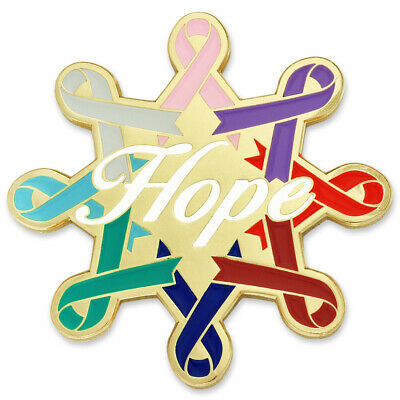 Pinmart S Colon Cancer Blue Awareness Ribbon Enamel Lapel Pin