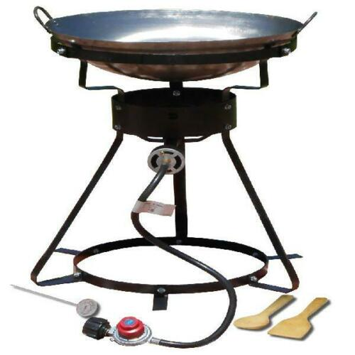 "Propane Cooker 24/"" Portable Outdoor with 18/"" Steel Wok King Kooker Cast Burner"