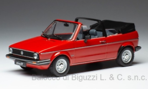 Model Car Scale 1:43 Ixo VW Golf Series 1 Cabriolet diecast vehicles Red
