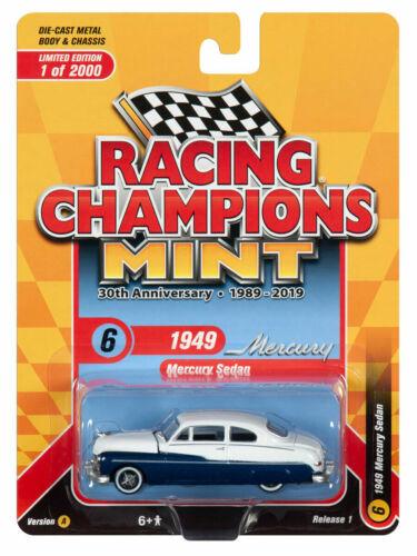 Blue-White **RR** Racing Champions 1:64 OVP 1949 Mercury Sedan  Custom