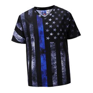 Mens-Summer-T-Shirts-Graphic-Flag-Print-Short-Sleeve-V-Neck-Tees-Casual-Tops
