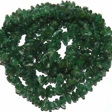 "NG2275f Dark Green Aventurine Small (6x3-8x4mm) Natural Gemstone Chip Beads 36"""