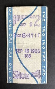 Vintage-039-Aqueduct-Racetrack-039-New-York-Horse-Racing-Betting-Ticket-Sept-1966