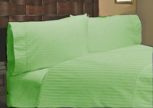 UK SMALL DOUBLE ALL STRIP BED SET-SHEET SET//DUVET//FITTED 1000TC EGYPTIAN COTTON