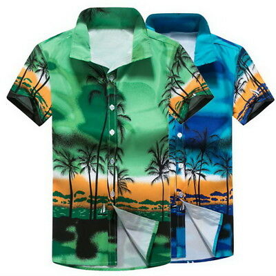 af27316b8c8 Mens Hawaii Shirt For Summer Beach Leisure Fashion Floral Tropical Seaside  Shirt