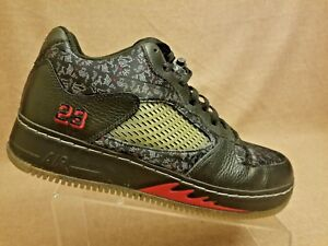 2008 Nike AirJORDAN 325331-001 Force AJF V 5 Low Retro Black Red ... a477cf0428be