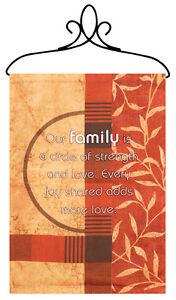 Nuestro-Familia-Tapiz-bannerette-colgante-de-pared
