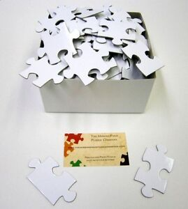 NUMBERED Wedding Guest Book Puzzle Extra Large WHITE BLANK PUZZLE ...