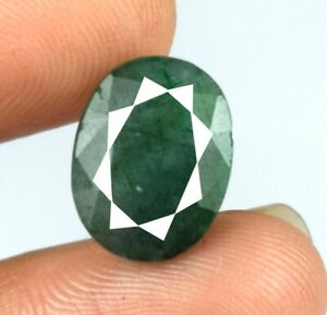 Natural 4.85 Ct Colombian Emerald Ring Size Gemstone Oval Cut Certified A57795
