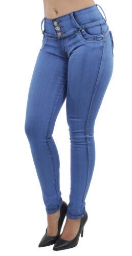 Mid Waist Push Up Skinny Jeans Women/'s Juniors Colombian Design Butt Lift