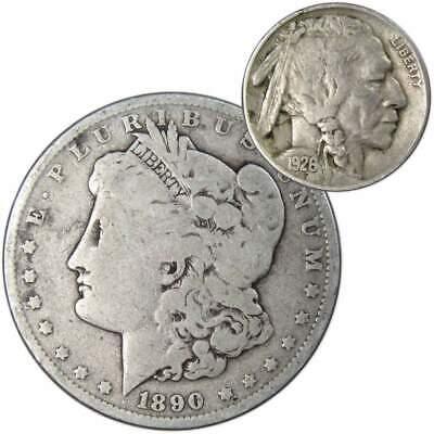 D Buffalo Nickel 5c Cent Very Good VG Condition 1926