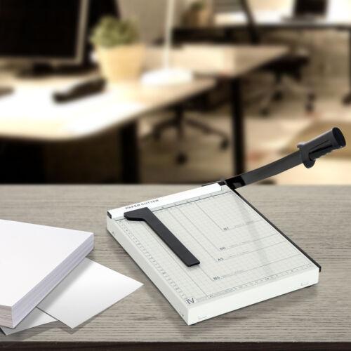 HOMCOM Papierschneidemaschine Hebelschneider Papier bis DIN A4 Metall Weiß