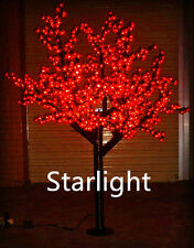 Outdoor 6ft LED Cherry Blossom Tree Christmas Light Garden/Home/Path Decor Red