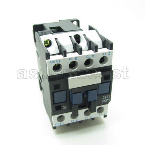 AC Contactor AC220V Coil 12A 3 Pole Phase NO Normal Open 1 NO Switch CJX2-D1210