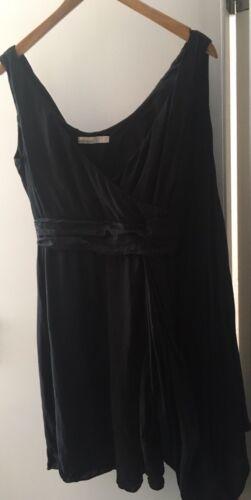 10 vestito bellissimo drappeggi schiena seta Karen taglia sulla nero Millen di con Bx1nH7