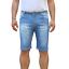 Bermuda-Uomo-Jeans-Denim-Corto-Tasche-America-Pantaloncino-Blu-Shorts-Casual-t miniatura 11
