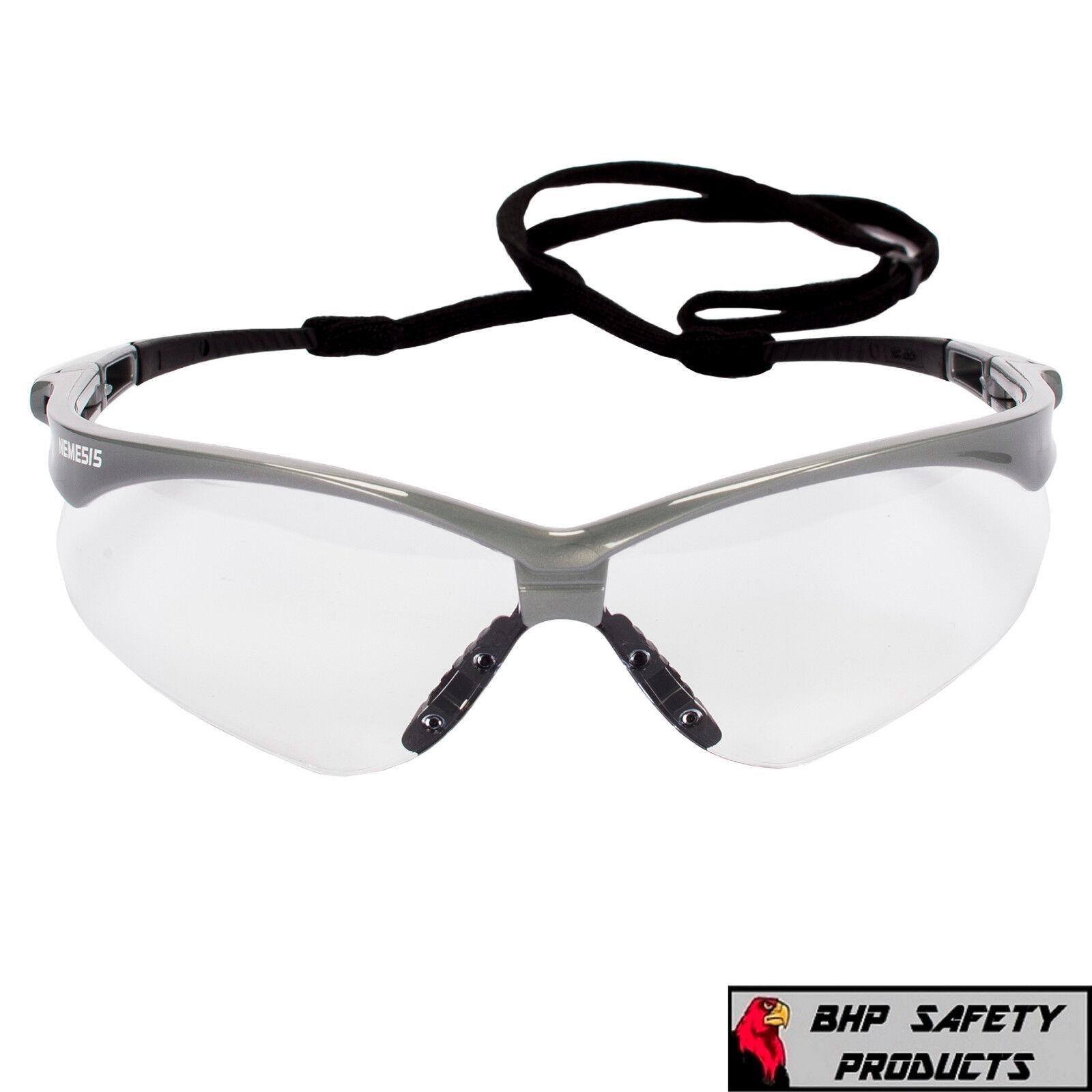 3 PAIR JACKSON NEMESIS 47388 SAFETY GLASSES SILVER//CLEAR ANTI-FOG LENS Z87+