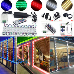 US-5050-5054-White-Blue-Red-RGB-Module-Lights-LED-STORE-FRONT-Window-Light-Kits