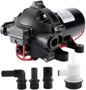 DC12V Water Pressure Diaphragm Pump 18.9LPM 5.0GPM 60PSI/4.2Bar RV Boat Marine
