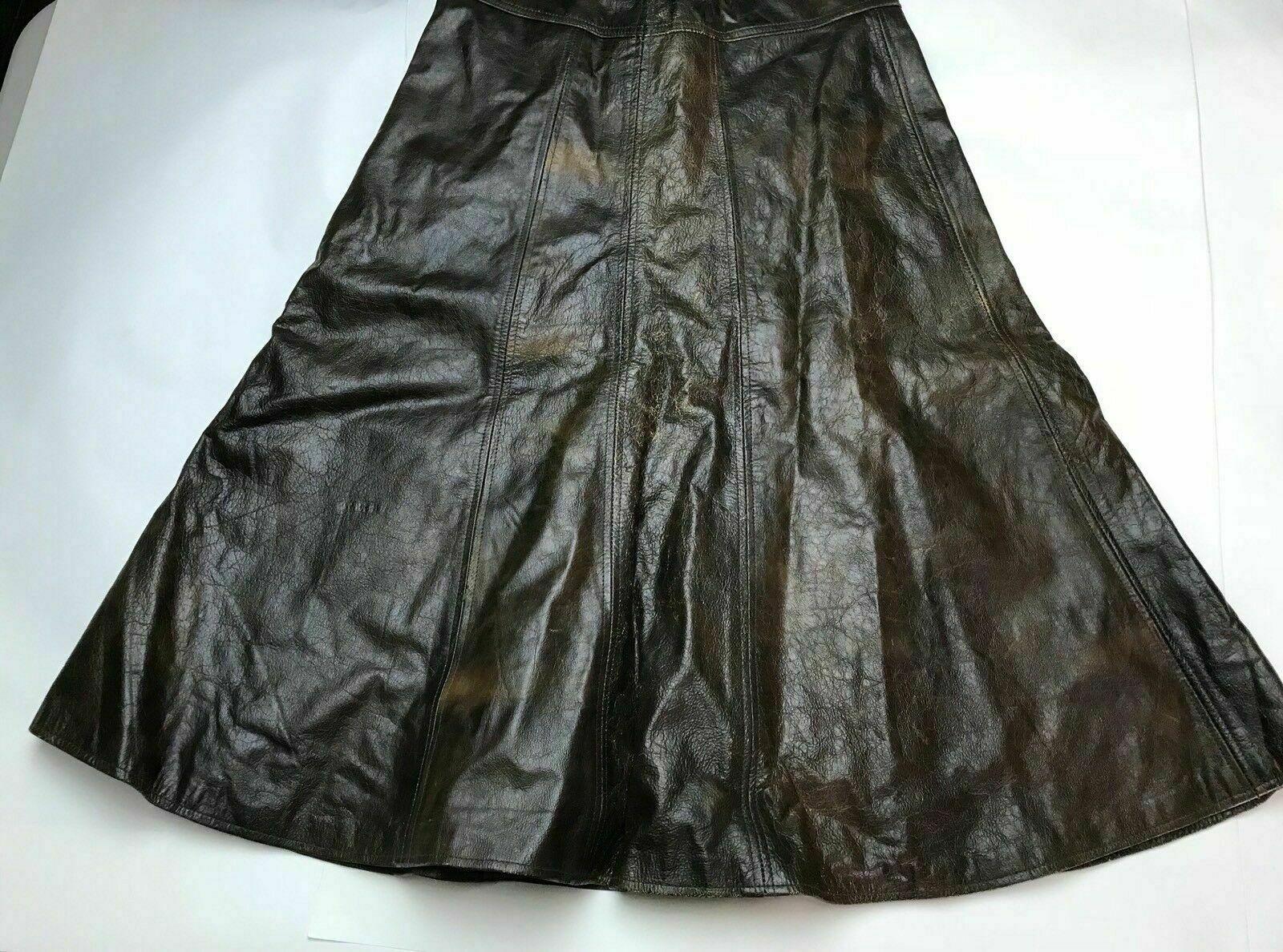 Vintage 70's-80's Brown Genuine Leather Umbrella … - image 4