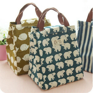 Image Is Loading Cute Animal Portable Insulated Canvas Cooler Picnic Lunch
