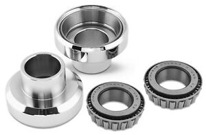 Head Cups With Races For Harley Big Twin-Chrome