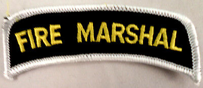 Fire Marshal Rocker Bar Uniform Patch #Fd-Wh