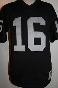 buy popular 6d0fb 715be Details about Jim Plunkett #16 Oakland Raiders Throwback Jersey Mitchell &  Ness Jersey - Black