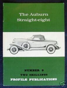 AUBURN STRAIGHT EIGHT CAR PROFILE PUBLICATIONS NO 9