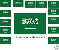 Assortiment Lot De10 Autocollants Vinyle Stickers Drapeau Arabie-saoudite