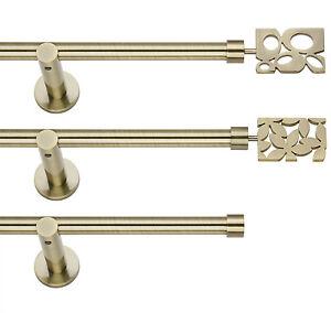 Gardinenstange-Vorhangstange-19mm-Einlaeufig-Messing-Antik-120-600cm-Preishammer