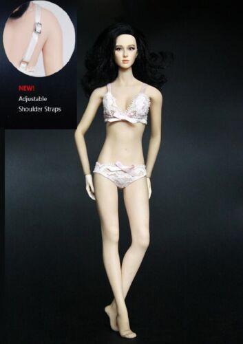 1//6 female Lace Lingerie Sets bra Panties Pink color for Kumik Phicen ❶USA❶❶