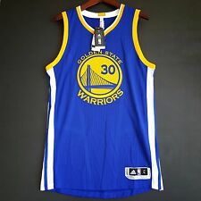 100% Authentic Stephen Steph Curry 2015 16 Warriors away Jersey Size L 44 Mesh