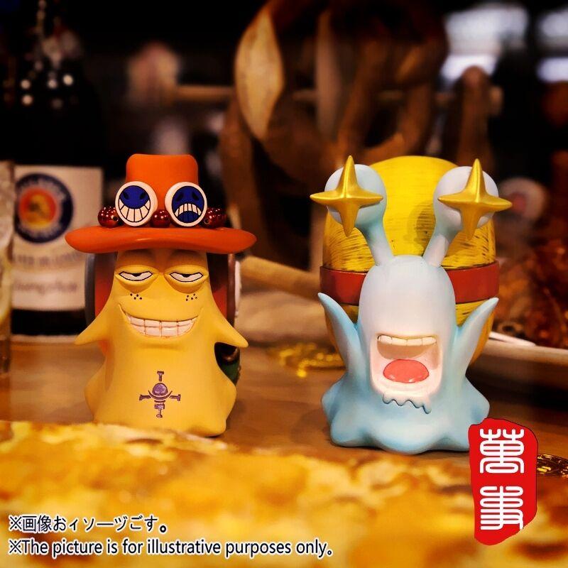 One Piece Monkey D. Luffy Portgas·D· Ace Den Den Mushi Resin Figure Be