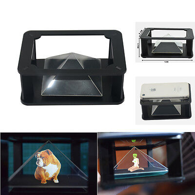 "360° Full view 3D holographic video play pyramid box for 3.5~5.5"" mobile phone"