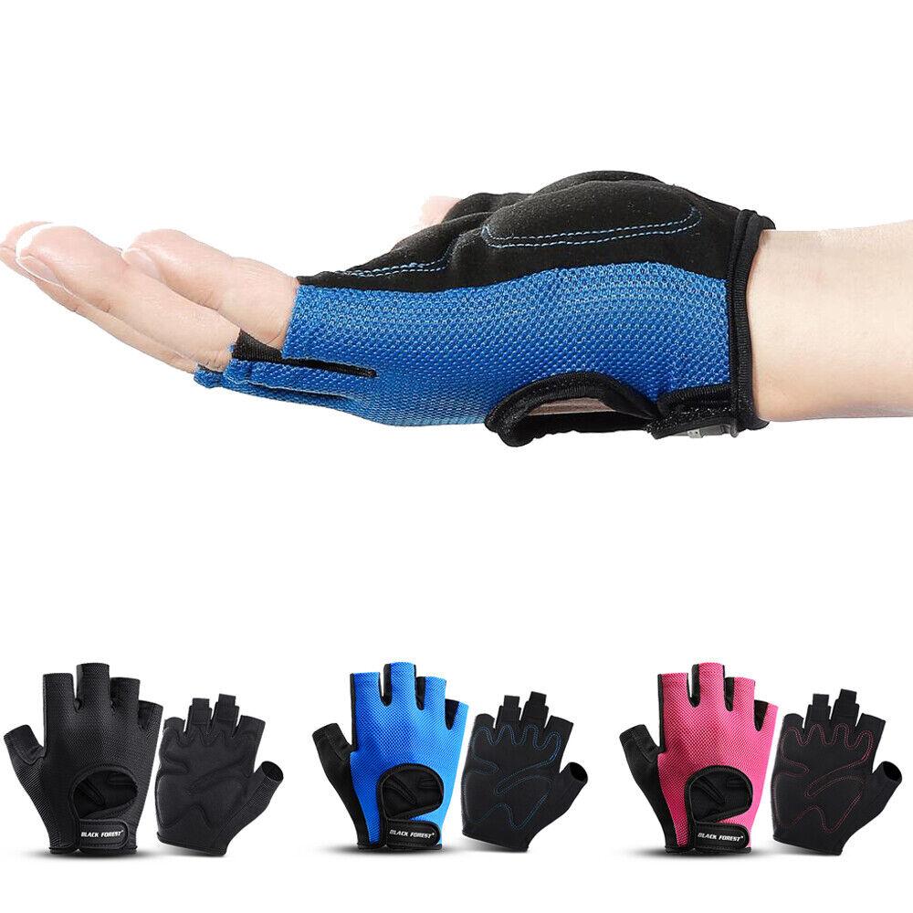 Unisex Half Finger Work Out Gym Gloves Sport Fitness Anti-Slip Anti-Sweat Gloves