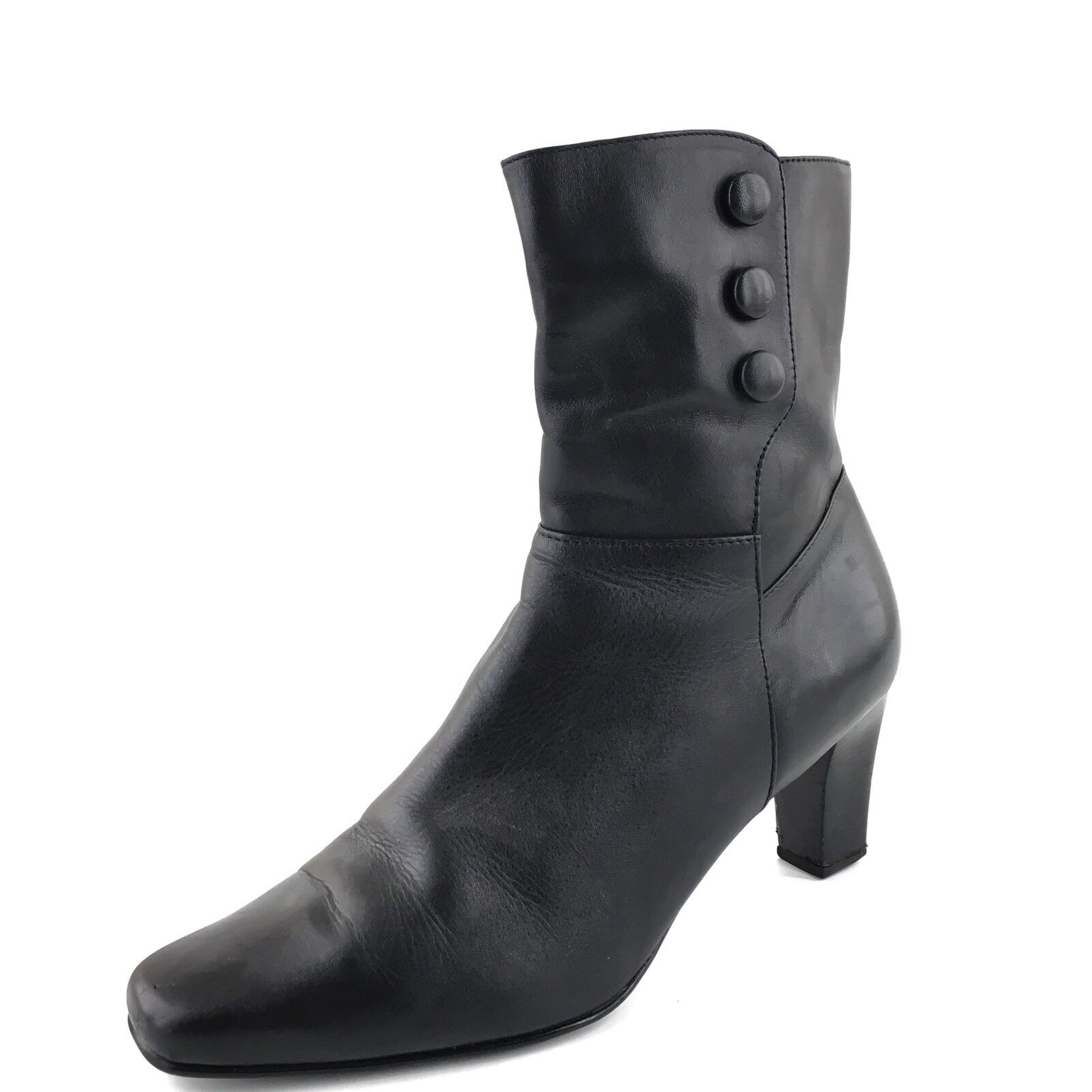 Blondo Chicago Black Leather Waterproof Ankle Boots Women's Size 9.5 M*