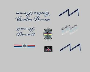 Carlton-Pro-Am-12-velo-stickers-transferts-des-autocollants-N-20