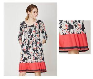 M Bunt Wsd3024 Bamboo Bambus Baret Thought Floral Dress Kleid Größe XC8wxfz