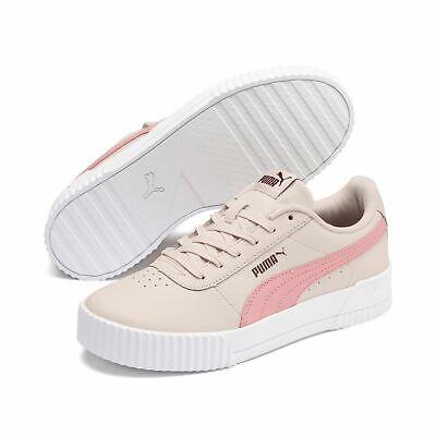 Puma Carina L Damen Sneaker Leder Schuhe 370325 Weiß Rosa