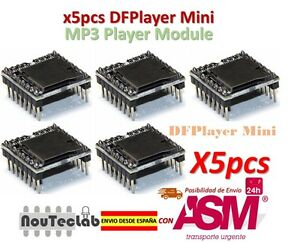 5pcs Dfplayer Mini Mp3 Player Module Mp3 Voice Module Tf Card And Usb Disk