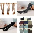 Ladies Winter Soft Cable Knit Over knee Long Boot Thigh-High Warm Socks Leggings