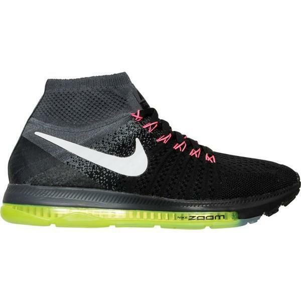 fbfbad09d0fa Nike Zoom All out Flyknit Gray Black Green Running Shoes 845361-002 Women s  9 for sale online